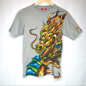 Vtg Jnco Jeans Dragon Graphic Tee Large
